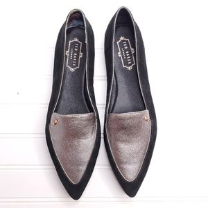 Ted Baker Pointy Toe Leather Flats Sz 10